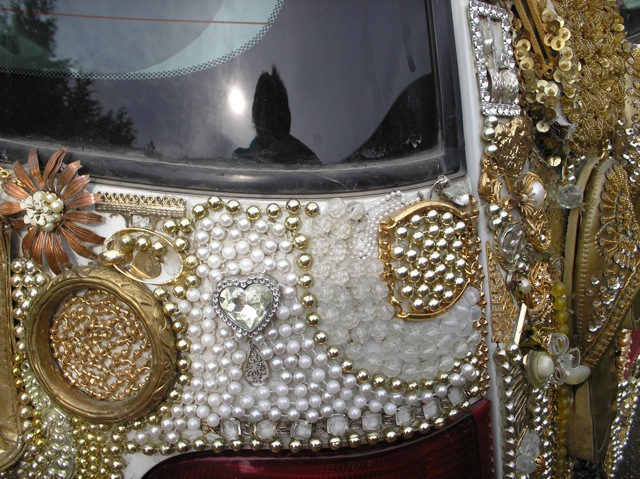 Detail of jeweled back